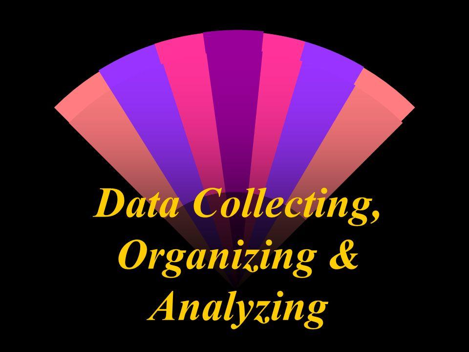 Data Collecting, Organizing & Analyzing