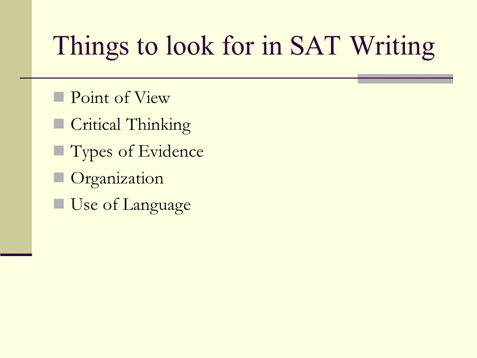 good evidence to use for sat essay
