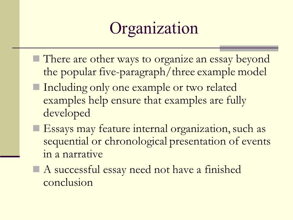 three ways to organize an essay