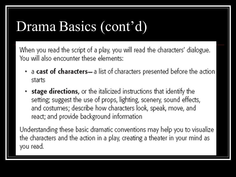 Drama Basics (contd)