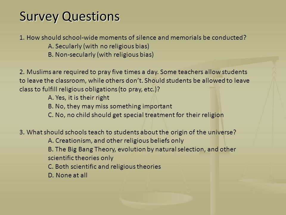 Survey Questions Survey Questions 1.