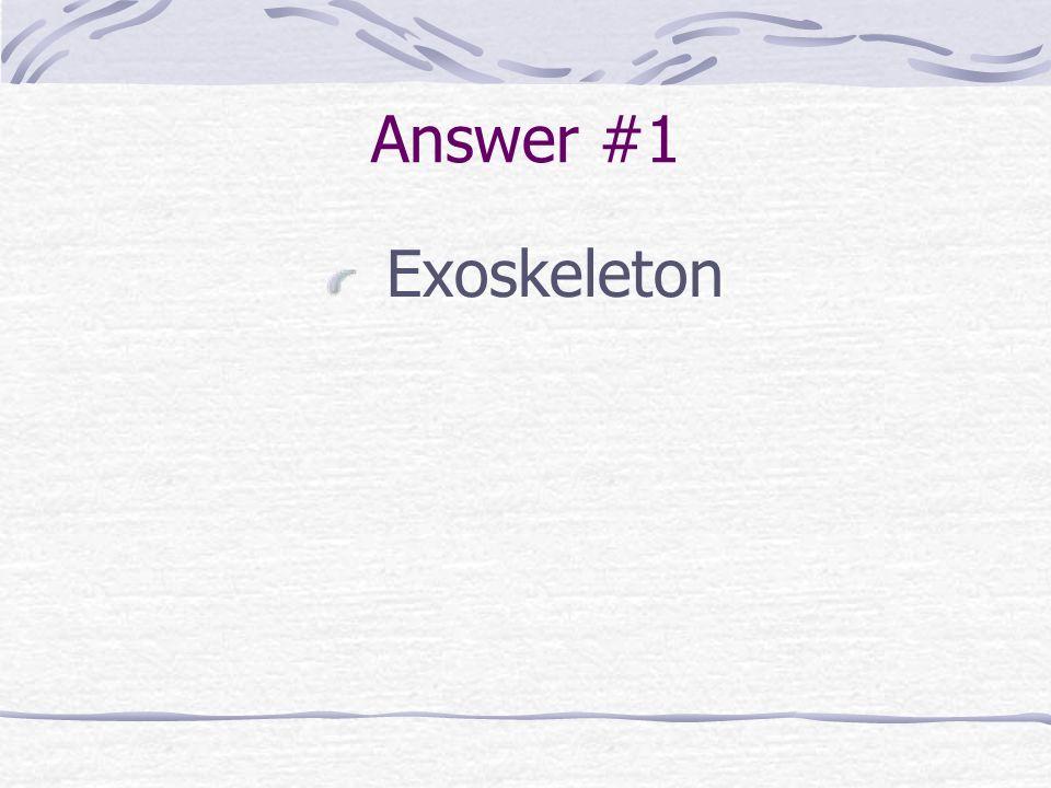 Answer #1 Exoskeleton