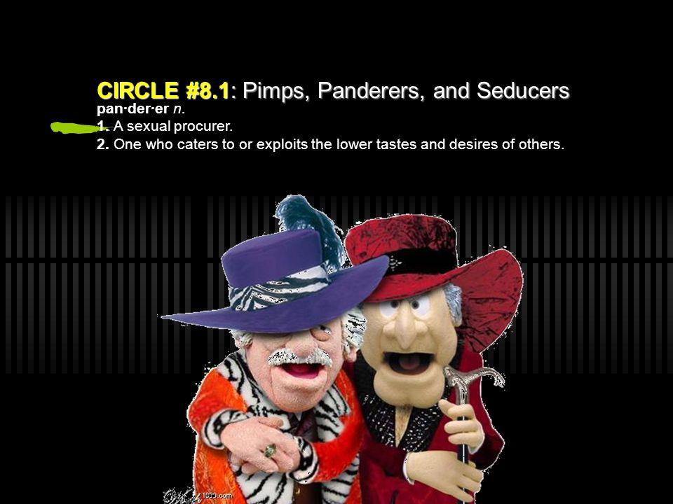 Circle 8: Fraud CIRCLE #8.1: Pimps, Panderers, and Seducers CIRCLE #8.1: Pimps, Panderers, and Seducers CIRCLE #8.2: Flatterers CIRCLE #8.2: Flatterer