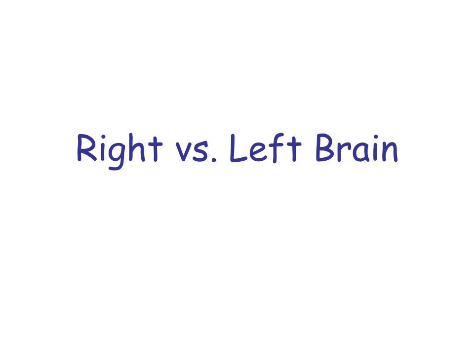 Right vs. Left Brain