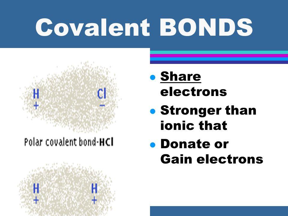 Ionic Bonds =