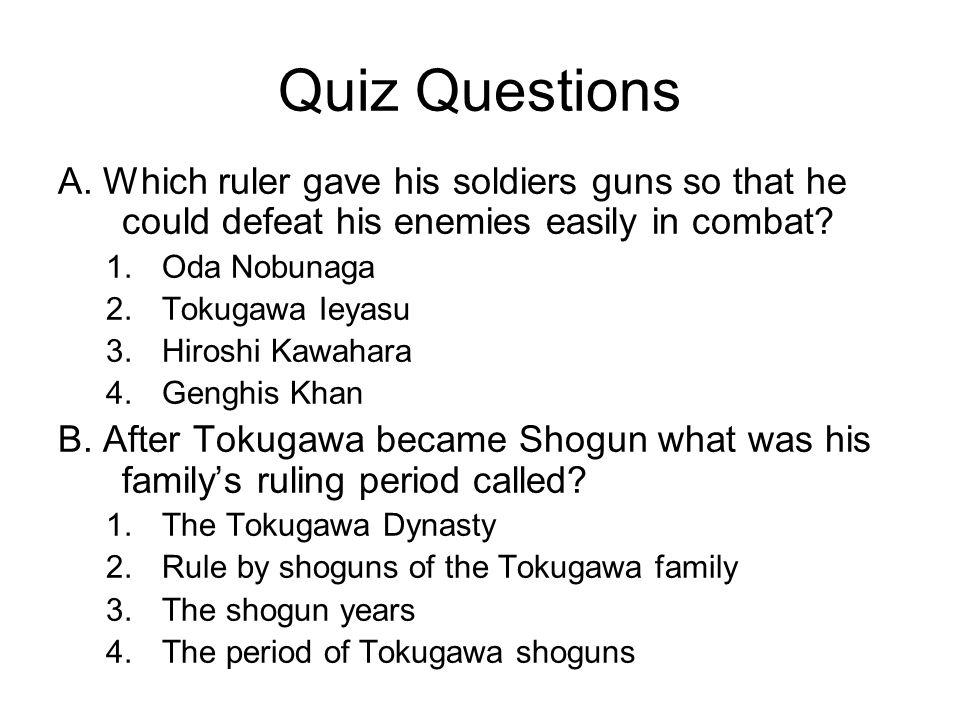 Quiz Questions A.