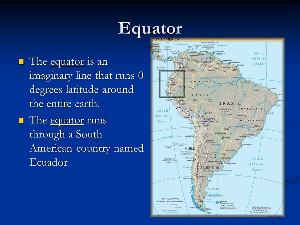 Equator The equator is an imaginary line that runs 0 degrees latitude around the entire earth. The equator is an imaginary line that runs 0 degrees la