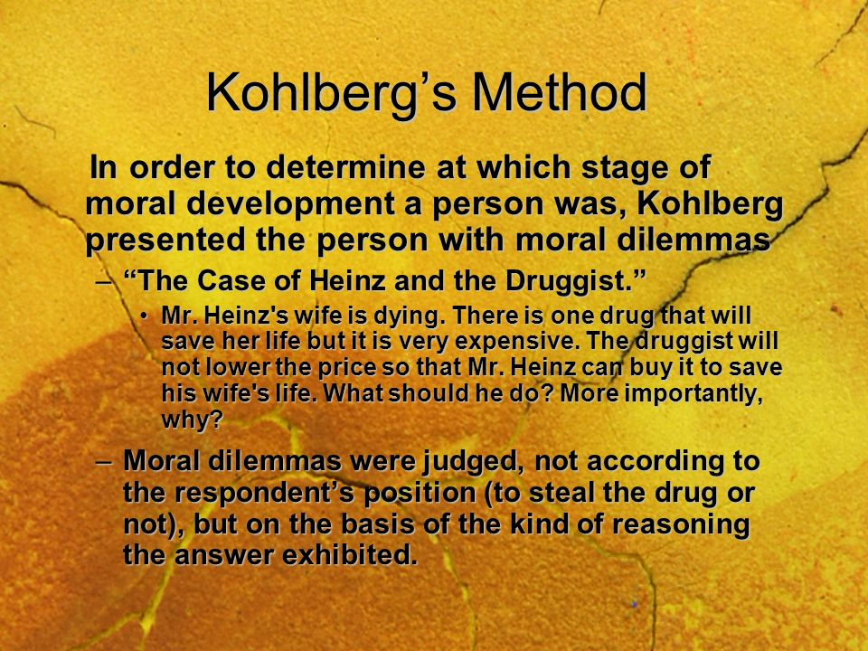 Kohlbergs Stages: Postconventional MoralityPostconventional Morality –Stage 6: Universal Ethical Principle Orientation Motivation: Maintain universal principles of justice, equality, trust, and respect, regardless of the reactions of others.Motivation: Maintain universal principles of justice, equality, trust, and respect, regardless of the reactions of others.