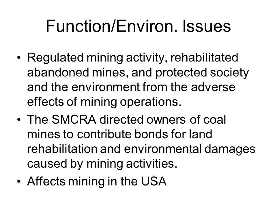 Function/Environ.
