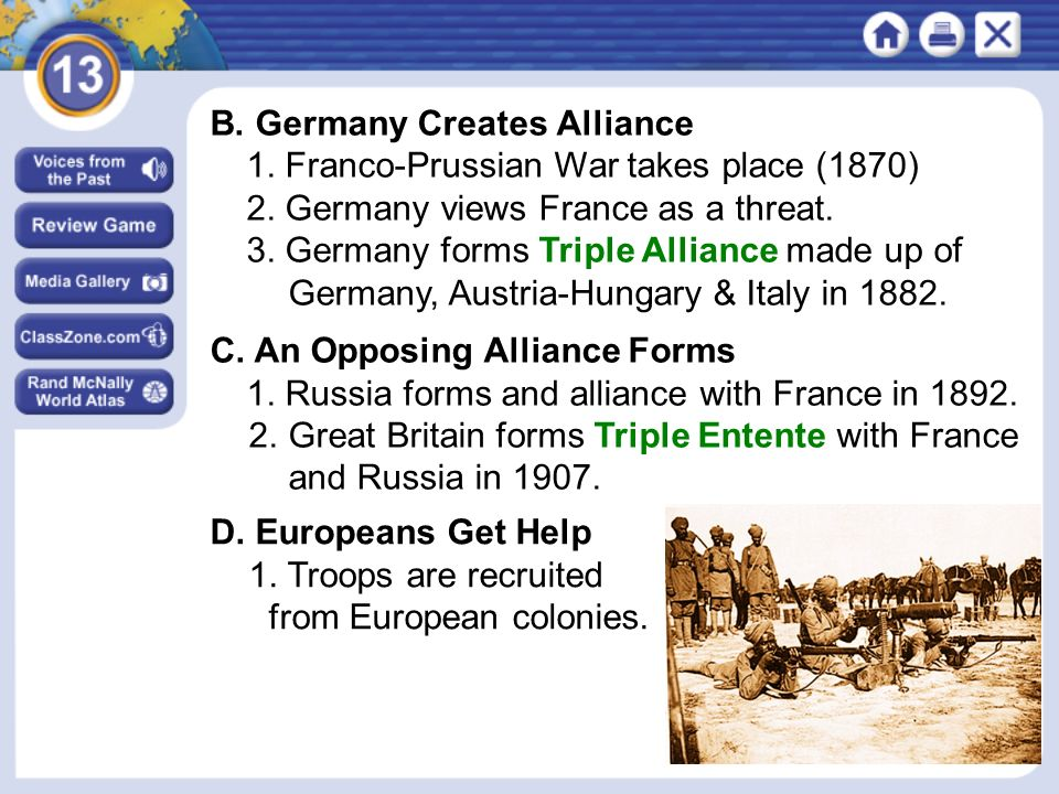 NEXT 5. The Eastern Front between Russia and Germany is known as the Frozen Front.