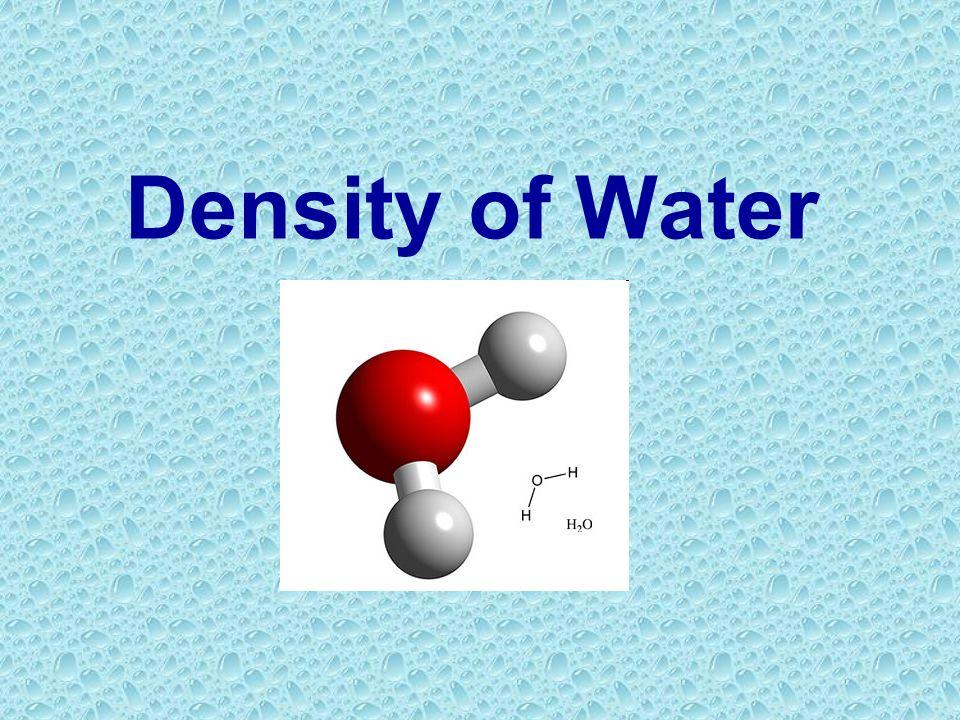 Density of Water