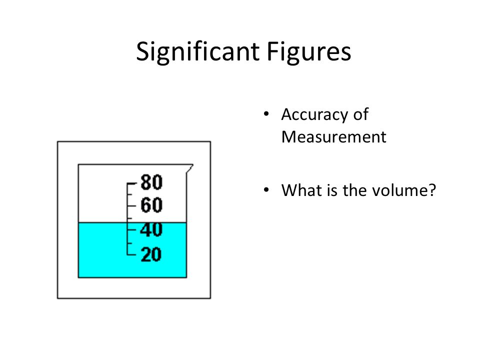 Significant Figures Accuracy of Measurement What is the volume