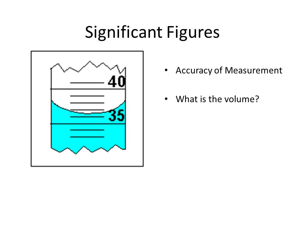 Significant Figures Accuracy of Measurement Would it be accurate to say that the volume is 36.5 ml.