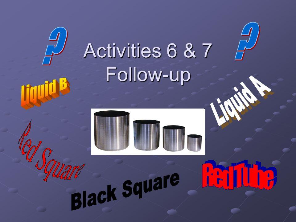 Activities 6 & 7 Follow-up