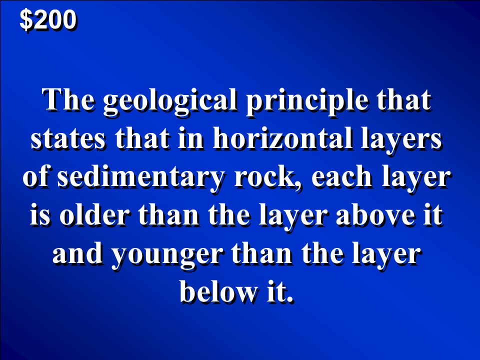© Mark E. Damon - All Rights Reserved $100 Geological Time Scale Scores