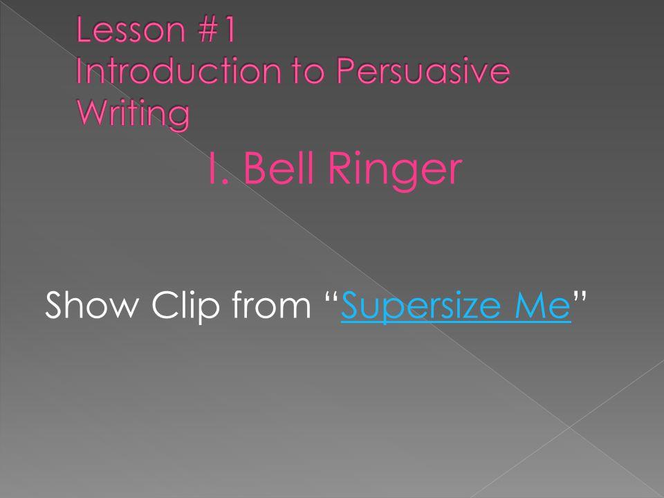 I. Bell Ringer Show Clip from Supersize MeSupersize Me
