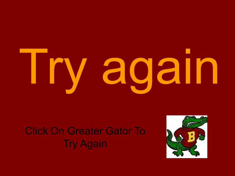 Which group of hornet would Greater Gator like to chomp? Pick the correct symbol. < > =