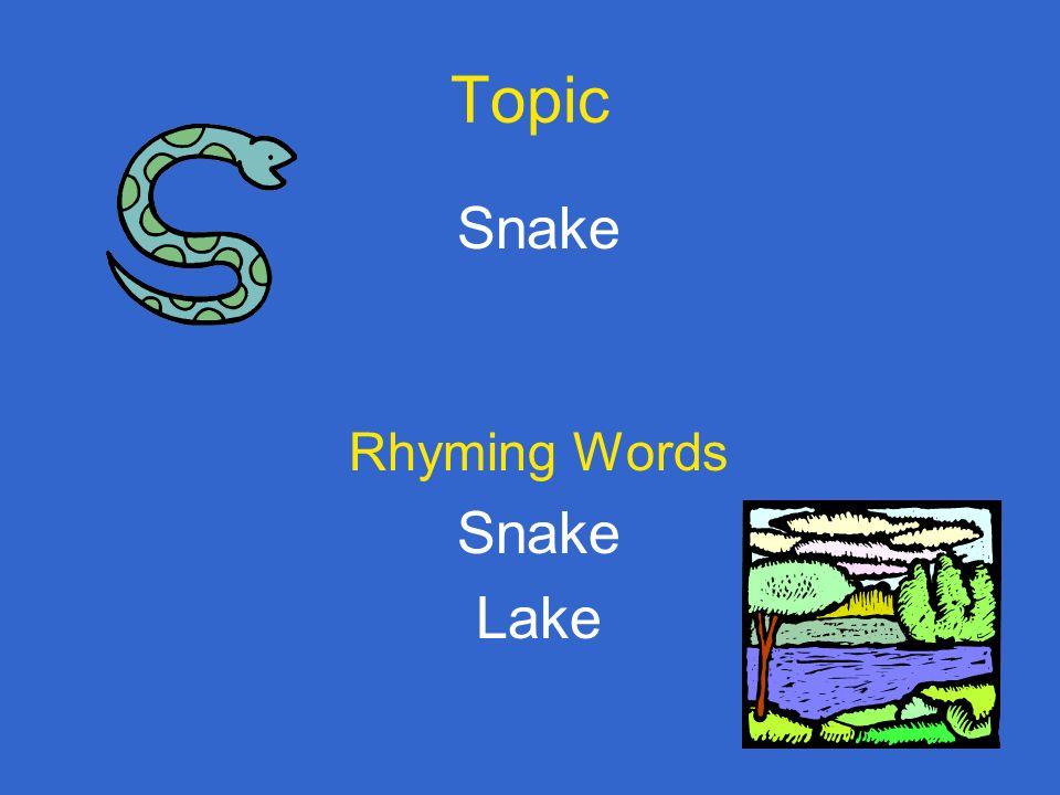 List Rhyming Words Snake Cake Rake Make Lake Bake Wake Take