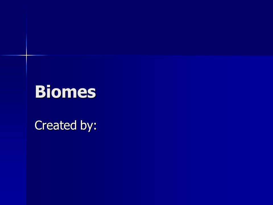 Biomes Created by: