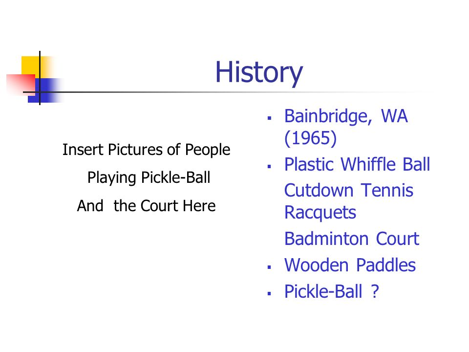 Pickle-Ball History Court Dimensions Rules Skills ServeForehand Backhand VolleyLob Smash Special Shots