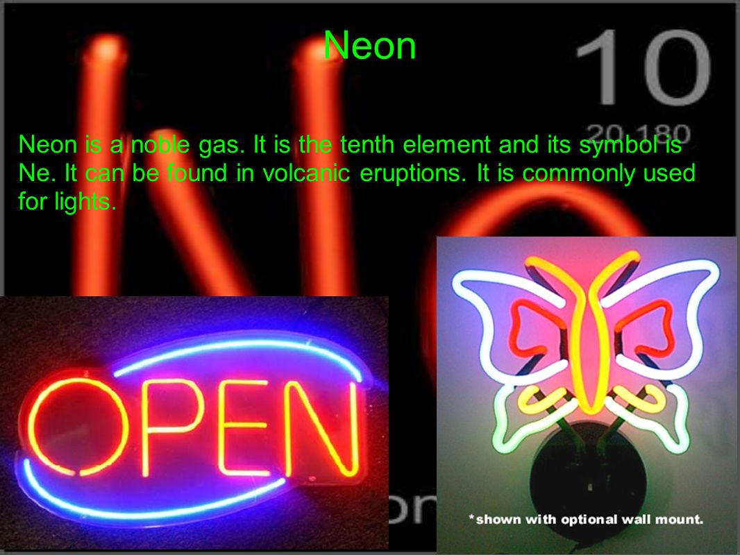 Uses of the Neon Element?