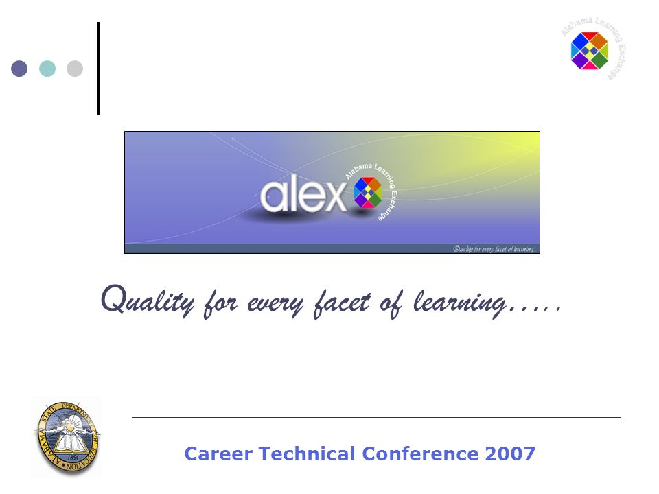 Career Technical Conference 2007 Q uality for every facet of learning…..