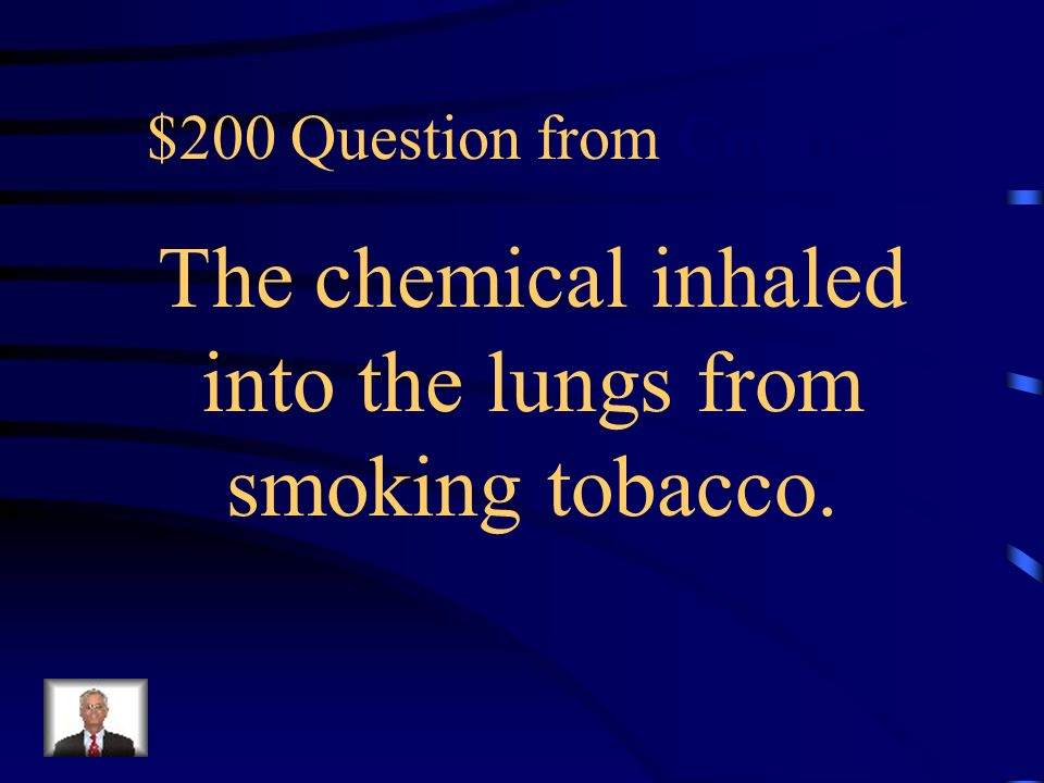 $100 Answer from Cocaine Secondhand Smoke