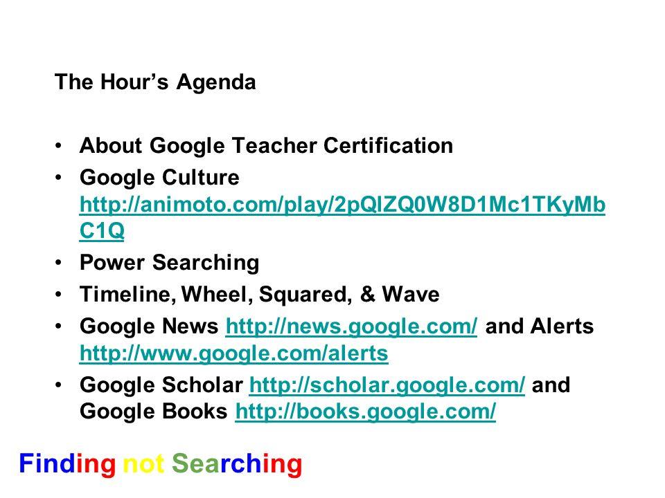 and other Secrets from the Google Teacher Academy Wendy Stephens GTC NYC 08 Buckhorn High School New Market, Ala.