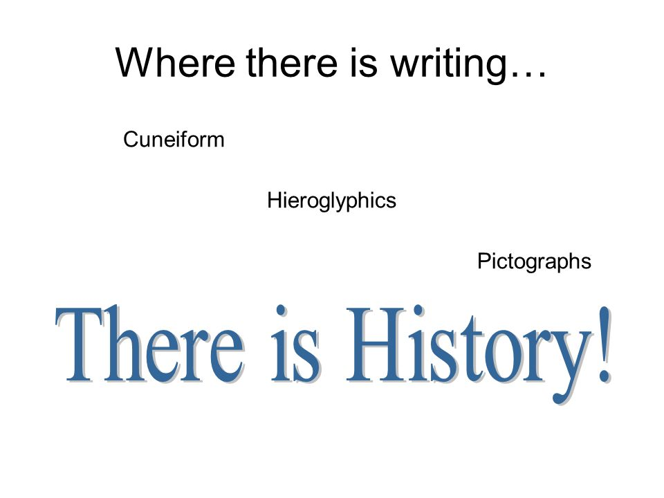 Where there is writing… Cuneiform Hieroglyphics Pictographs