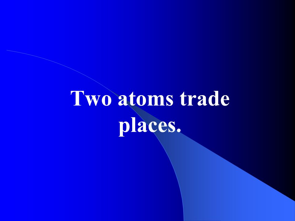Two atoms trade places.