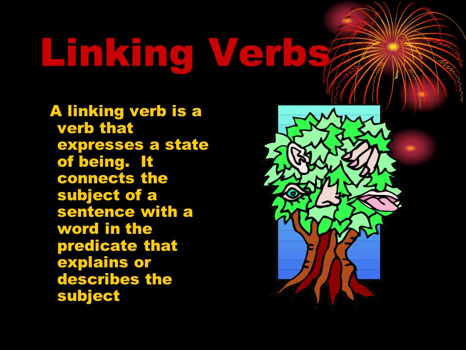 Linking Verbs A linking verb is a verb that expresses a state of being.