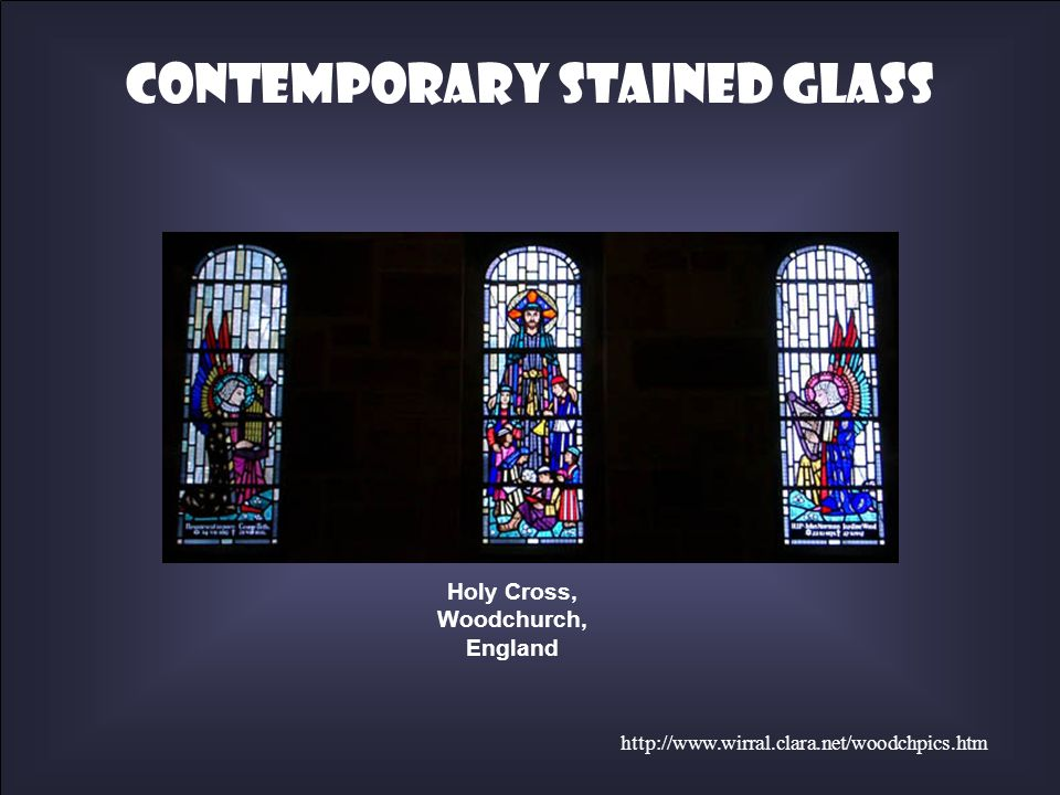 http://www.wirral.clara.net/woodchpics.htm Holy Cross, Woodchurch, England Contemporary Stained Glass