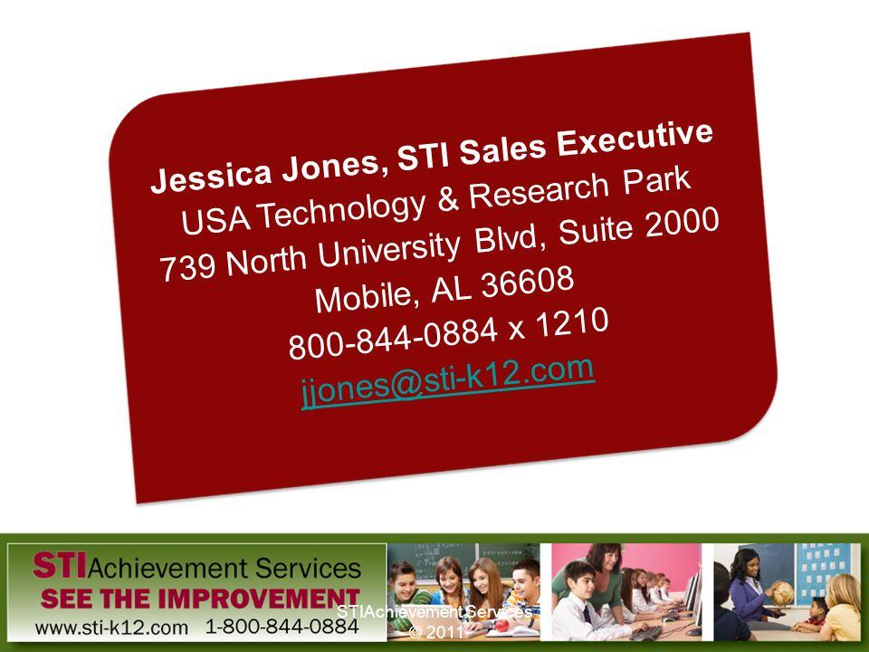 Jessica Jones, STI Sales Executive USA Technology & Research Park 739 North University Blvd, Suite 2000 Mobile, AL 36608 800-844-0884 x 1210 jjones@st