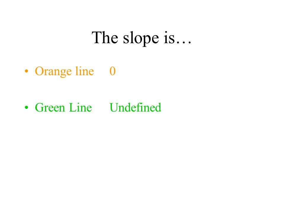 Find the slope of these lines