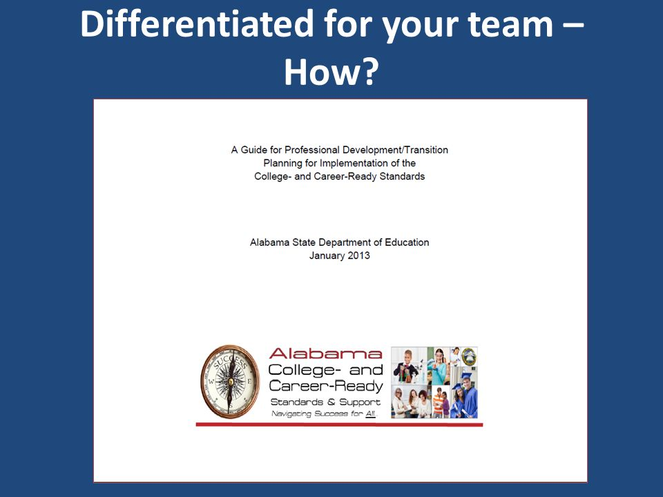 Differentiated for your team – How?