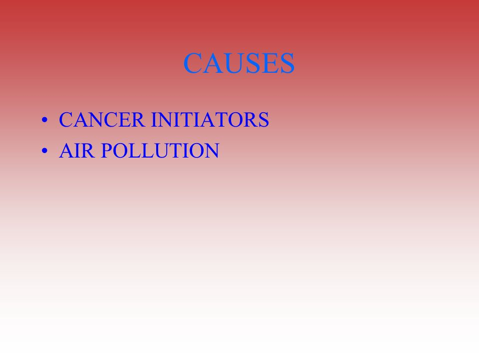 CAUSES CANCER INITIATORS AIR POLLUTION