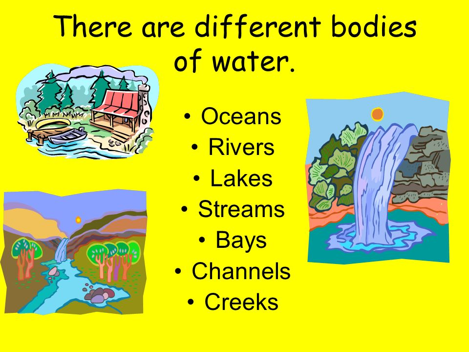 Water is found naturally in 3 different forms. Solid Liquid Gas (ice) (water vapor)