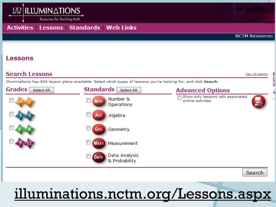 illuminations.nctm.org/Lessons.aspx