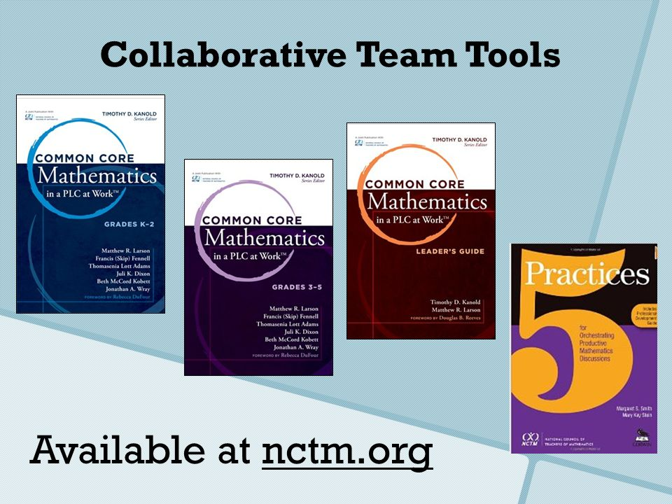Collaborative Team Tools Available at nctm.org