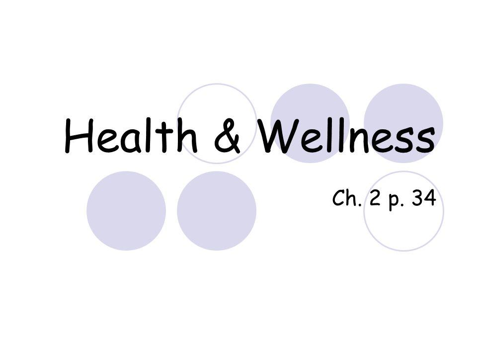 Health & Wellness Ch. 2 p. 34