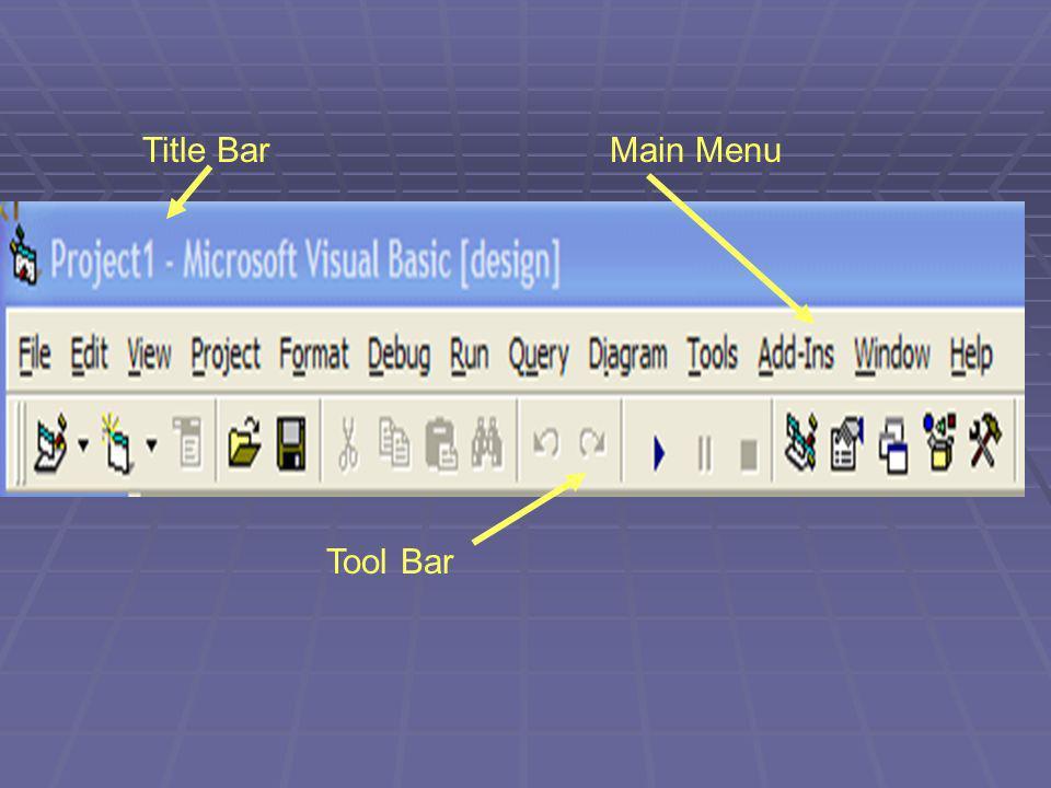 Title BarMain Menu Tool Bar