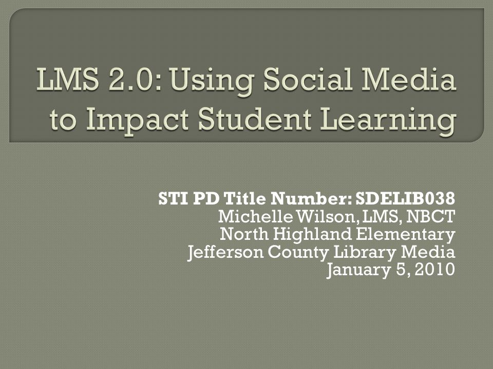 Library media specialists can use social media to acquire, SHARE, and produce information.