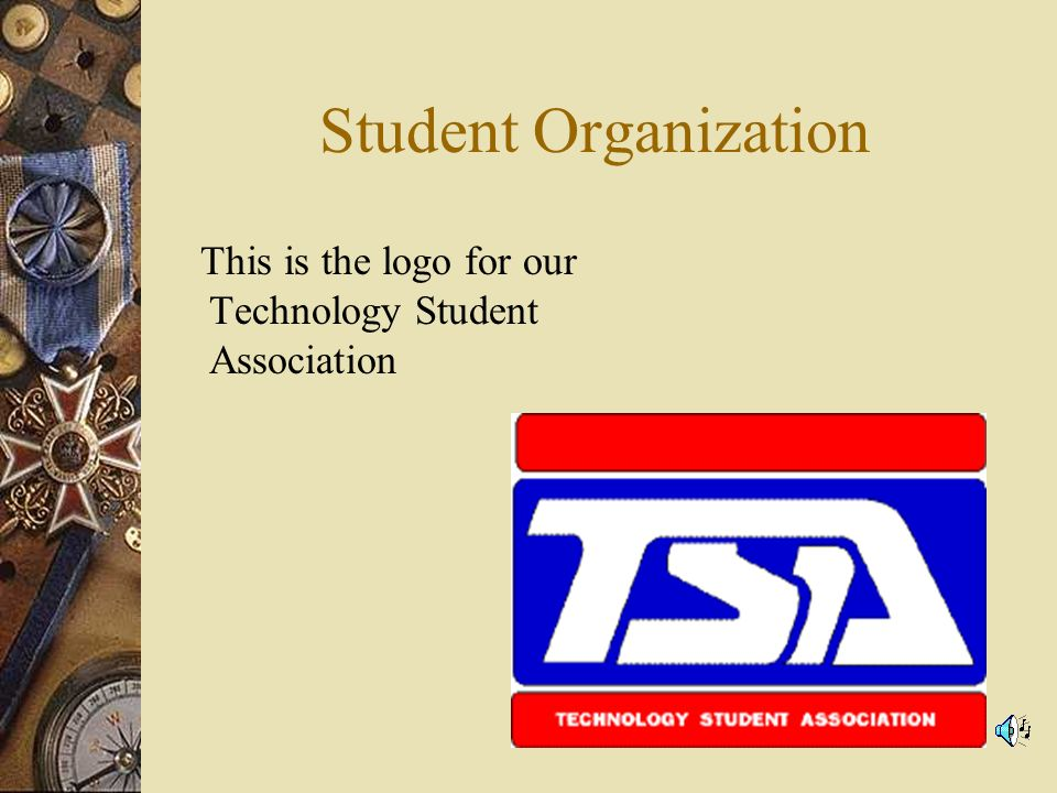 Student Organization This is the logo for our Technology Student Association