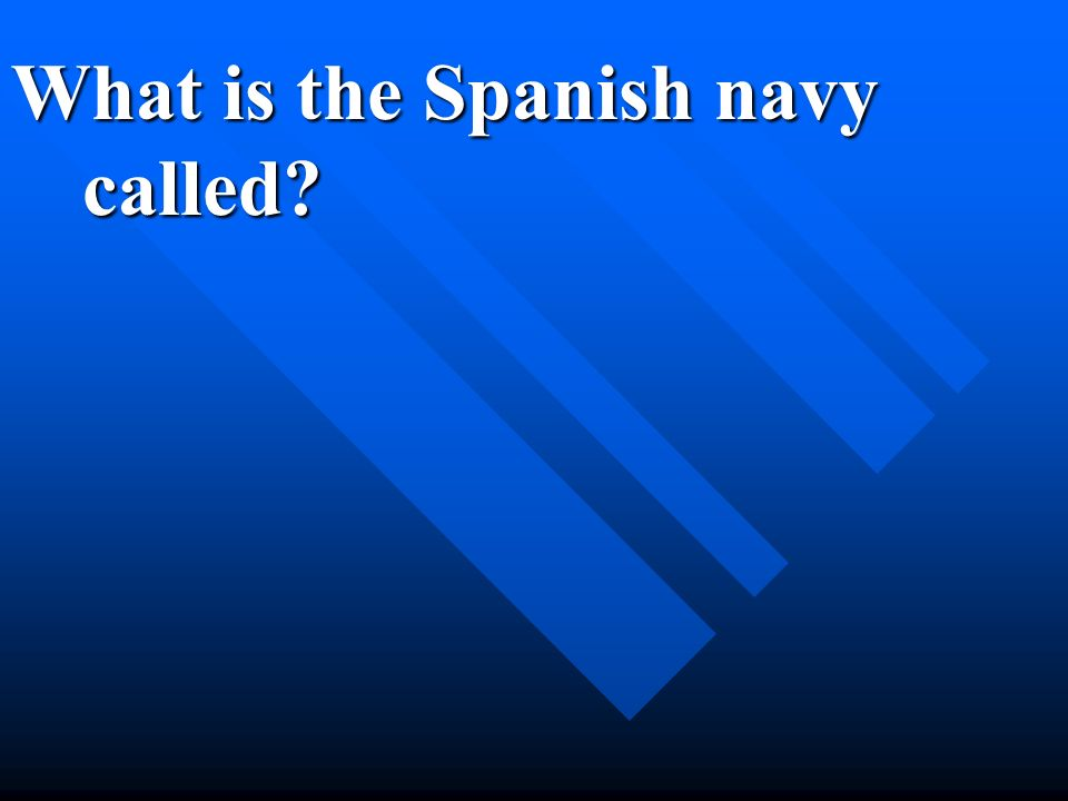 What is the Spanish navy called?