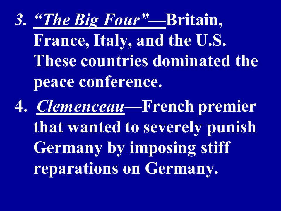 3.The Big FourBritain, France, Italy, and the U.S.