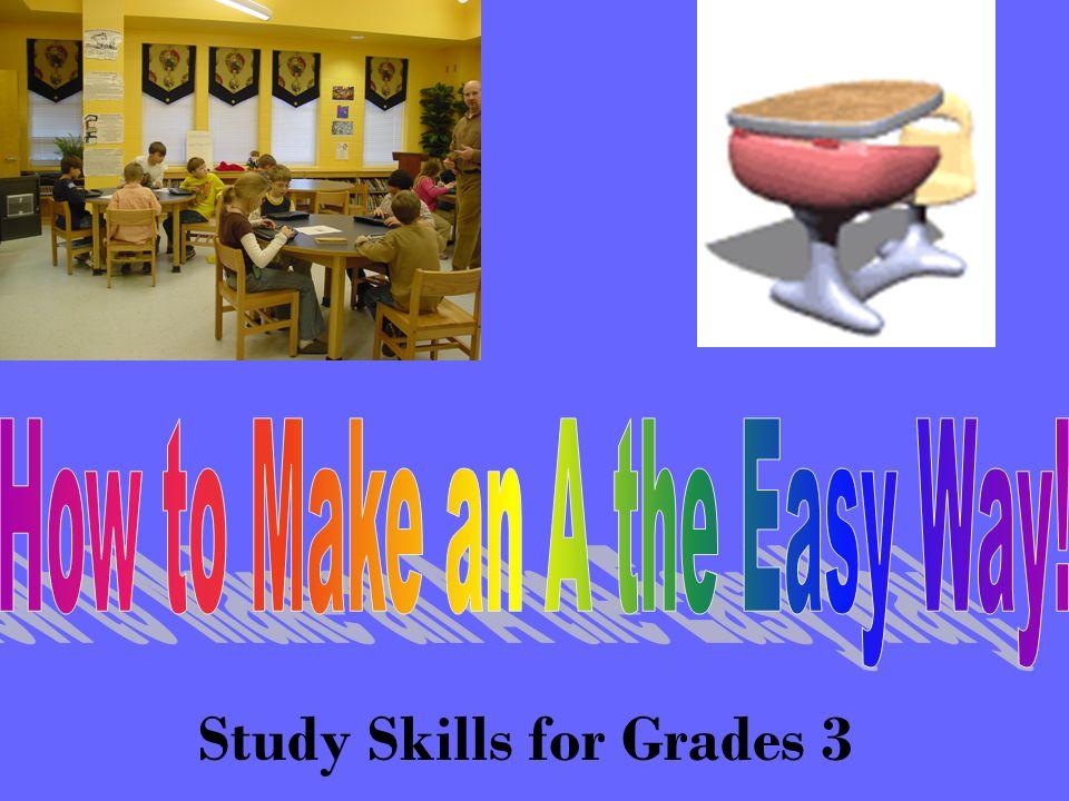 Study Skills for Grades 3