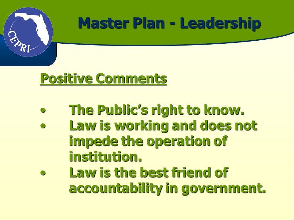 Positive Comments The Publics right to know.The Publics right to know.