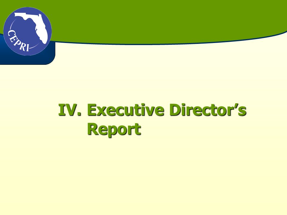 IV.Executive Directors Report