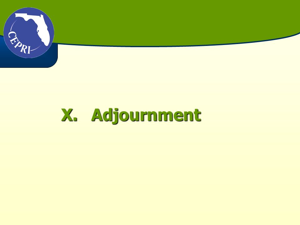 X.Adjournment