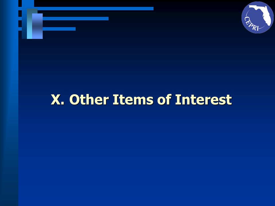 X.Other Items of Interest